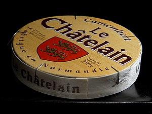 Camembert cheese box