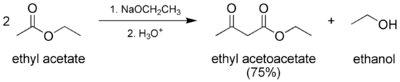 Preparation of ethyl acetoacetate.