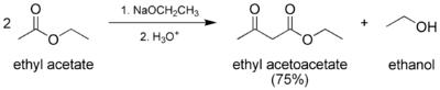 Preparation of ethyl acetoacetate.