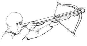 line art example of a crossbow.