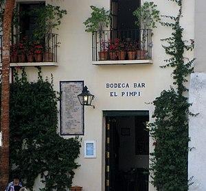 Español: Bodega El Pimpi, Málaga, España.
