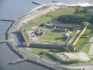 English: Fort Gaines, Dauphin Island, Alabama