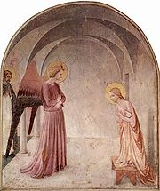 In The Annunciation, the interior reproduces that of the cell in which it is located.