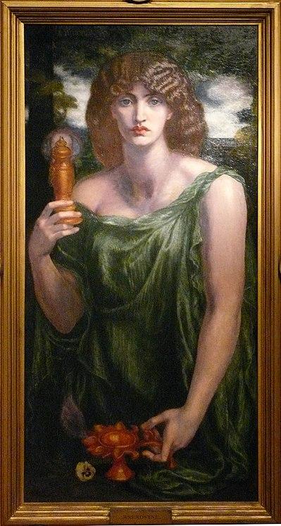 Dante Gabriel Rossetti, Mnémosyne, 1881, Wilmington, Delaware Art Museum.
