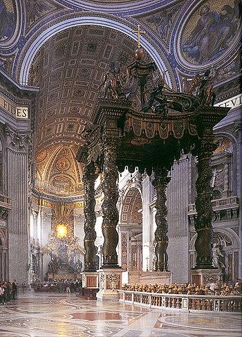 Il baldacchino di san Pietro del Bernini, in s...