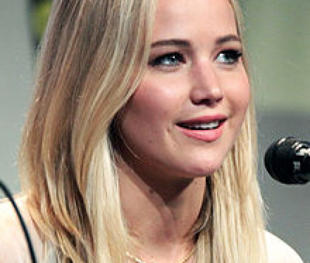 A Photograph Of Actress Jennifer Lawrence At The 2015 San Diego Comic Con International