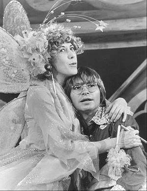 Publicity photo of Lily Tomlin and John Denver...