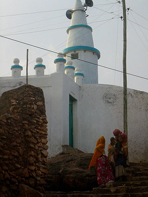 Mosque inside the old city of Harar (Ethiopia).