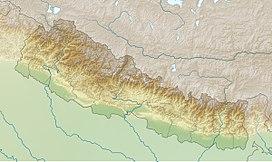 Núi Everest trên bản đồ Nepal