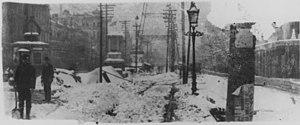 Canal Street, New Orleans. the 1895 snow. Men ...