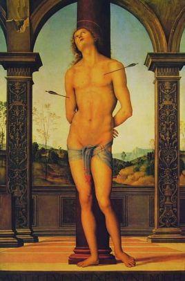 SAINT SEBASTIEN PATRON DES ARBALETRIERS Pietro_Perugino