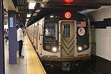 R160A E Train entering World Trade Center.jpg