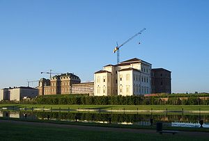 Sight of Reggia di Venaria Reale, royal palace...