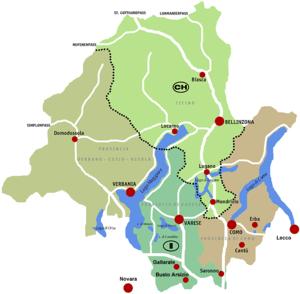Regione Insubria-Mappa