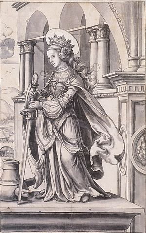 St Catherine of Alexandria, Design for a Stain...
