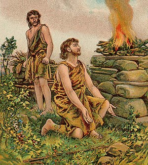 English: The Story of Cain and Abel; as in Gen...