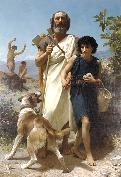 File:William-Adolphe Bouguereau (1825-1905) - Homer and his Guide (1874).jpg