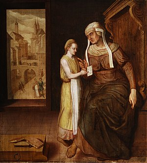Allegory of Teaching, German, c. 1600; oil on ...