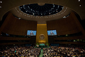 English: President Barack Obama addresses the ...