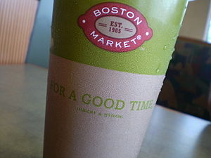 Boston Market cup