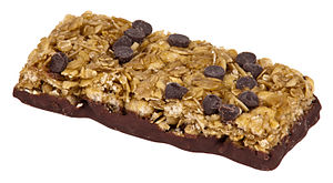 English: A chewy chocolate chip granola bar ma...
