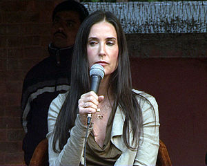 English: Demi Moore during the visit to Nepal ...