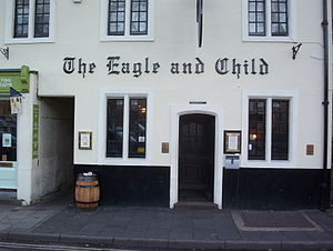 English: THe Pub Eagle and Child in Oxford, wh...