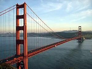 The Golden Gate Bridge and San Francisco, CA a...