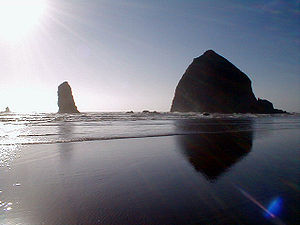 A view of Haystack Rock (Cannon Beach, OR). Ta...