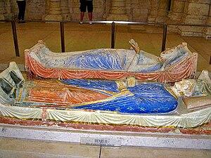 English: Tombs of Henry II and Eleanor of Aqui...