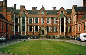 Frontage of Heslington Hall, York, the adminis...