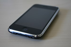 The front and base of the iPhone 3GS.