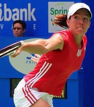 Justine Henin-Hardenne at the 2006 Medibank In...