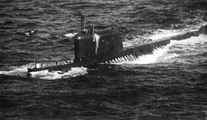 The Soviet submarine K-19. Romanov served on b...