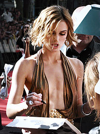 Keira Knightley at the Pirates of the Caribbea...