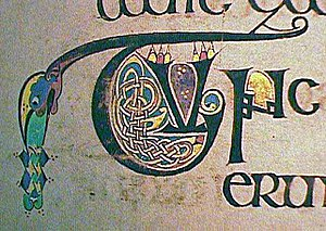 Image from the Book of Kells, a 1200 year old ...