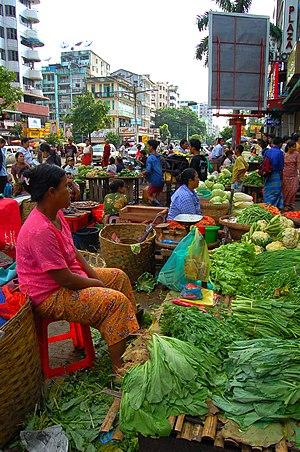 Outdoor market, Yangon, Myanmar