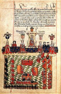 A depiction of the parliament of England in se...