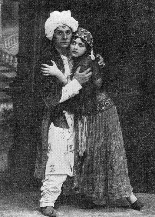 Pola Negri i Władysław Szczawiński (Sumurun)