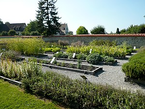 English: Herbal garden at monastery of Reichen...