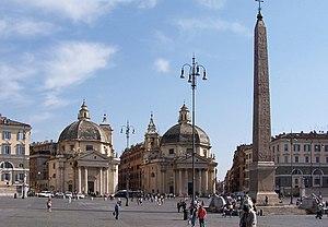 Roma, Piazza del Popolo, Santa Maria di Monte ...