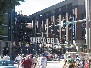 Safeco Field, Seattle, before a game between t...