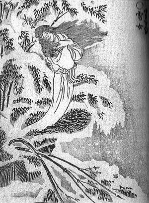 Yuki-onna(雪女) from the Gazu Hyakki Yakō