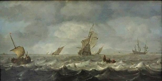 """Seascape"" by Arnoldus van Anthonissen - Gemäldegalerie, Berlin"