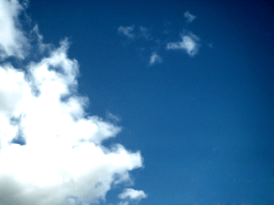 Photograph of blue sky