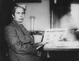 English: Alice Stone Blackwell and suffragist ...