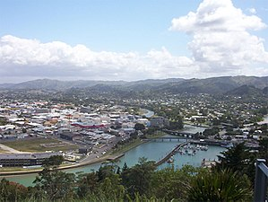 Central Gisborne viewed from Kaiti Hill