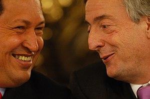 English: The President of Argentina, Nestor Ki...