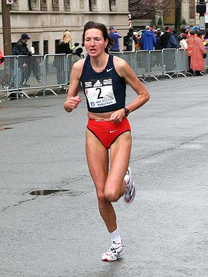 Jeļena Prokopčuka at the 2007 Boston Marathon