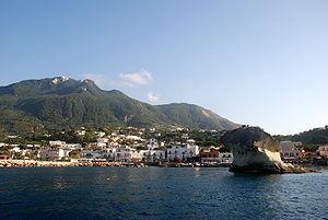 Lacco Ameno, Ischia, Italy. Monte Epomeo in th...